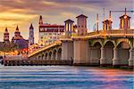 St. Augustine, Florida, USA bridge and river.