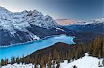 Peyto Lake at Sunset, Banff National Park, UNESCO World Heritage Site, Rocky Mountains, Alberta, Canada, North America