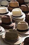 Hats in a market in Eygalières