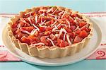 Tuna and tomato tart