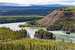 The Five Finger Rapids and the Yukon River, Yukon Territory, Canada, North America
