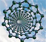 Graphene nanotube, molecular model.