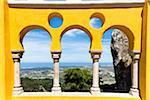 Courtyard of the Arches, Palacio da Pena, UNESCO World Heritage Site, Sintra, Portugal