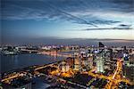 Panoramic skyline,illuminated buildings,Hangzhou