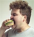 Enjoying a tasty burger