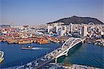 Skyline of Busandaegyo Bridge in Busan