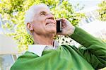Senior man calling someone