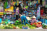 A market stall at An Binh market, Can Tho, Mekong Delta, Vietnam, Indochina, Southeast Asia, Asia