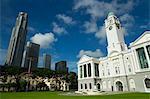 Victoria Memorial Hall and skyline, Singapore, Southeast Asia, Asia