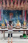 Incense coils in the Quan Am Buddhist Pagoda, Cholon, Ho Chi Minh City (Saigon), Vietnam, Indochina, Southeast Asia, Asia