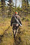 Hunter at hunting
