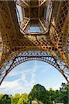Underneath Eiffel Tower, Paris, Ile-de-France, France