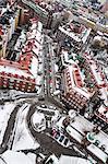 City traffic at winter