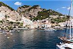 Harbour and marina, Amalfi, Province of Salerno, Amalfi Coast, Campania, Italy