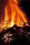 Sweden, Bonfire at night