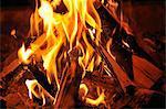 Sweden, Close up view of bonfire