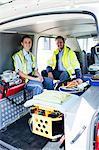 Portrait of ambulance crew