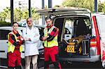 Portrait of ambulance men