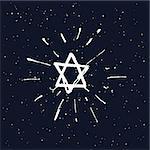 Star of David. vector illustration