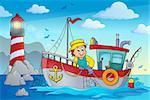 Fishing boat theme image 2 - eps10 vector illustration.