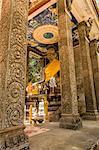 Giant deity statue, Bayon Monastery, Angkor Thom, Cambodia
