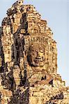 Giant Buddha face, Bayon Temple, Angkor Thom, Cambodia