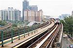 View of monorail and tower blocks, Kuala Lumpur, Malaysia