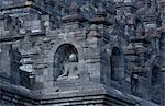 Carvings, The Buddhist Temple of Borobudur, Java, Indonesia