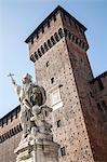 Religious statue, Castello Sforzesco, Milan, Italy