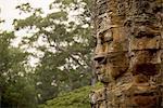 Close up of Bayon Temple, Angkor, Siem Reap, Cambodia, Indochina, Asia
