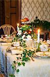 Sweden, Nacka, Sjotorpsvagen, Luxurious dinner