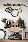 Sweden, Christmas decoration living room
