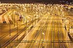 Sweden, Skane, Malmo, Central station at night