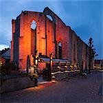 Sweden, Gotland, Visby, Sankta Karin ruined church at dusk