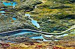 Norway, More og Romsdal, Sunnmore, Trollstigen road winding across Geirangerfjord