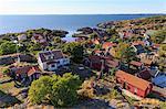 Sweden, Sodermanland, Stockholm archipelago, Oja, Landsort, Seaside village on clear day