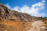 Madeira Island, Pico do Arieiro, paved path with observatory