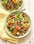 Salad with Shrimp, Avocado and Pomegranate