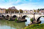 Ponte Sant'Angelo, Tiber River, Rome, Lazio, Italy, Europe