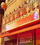 Illuminated sign, Los Angeles, California, USA