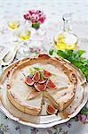 Sweden, Vanilla custard pie with figs