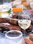 Sweden, Bohuslan, Tjorn, Wine poured into glass