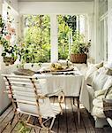 Sweden, Vastergotland, View of conservatory interior