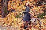 Sweden, Portrait of woman in park