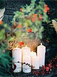 Sweden, White candles burning