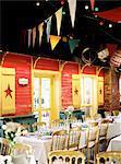 Sweden, Halland, Varberg, Decorated banquet room