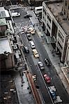 USA, New York State, New York City, Manhattan, Traffic in street