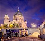 Germany, Berlin, Berliner Dom illuminated at night