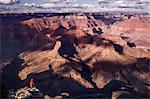 Hiker at Grand Canyon