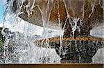 Close-up of Fountain in Trafalgar Square, London, England, UK